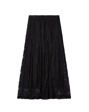 Long Black Lace Skirt