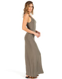 Long Low Back Tank Dress