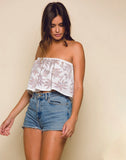 Lotus Love Sleeveless Crop Top