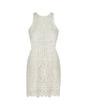 Love In White Crochet Dress