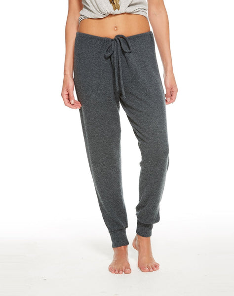 Love Knit Vented Drawstring Jogger