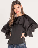 LOVE ME NOW RUFFLE TOP