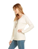 Love Rib Scoop Neck Raglan Pullover