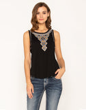 LOVE SEEKER EMBROIDERED TOP