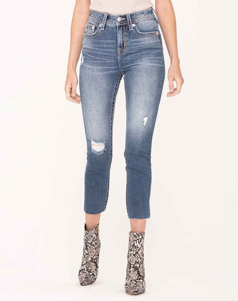 Low Tide Cropped Straight Jeans