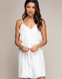 LUCIANA BUTTON DOWN DRESS