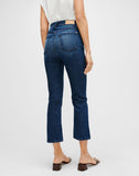 Luxe Vintage High Waist Slim Kick in Dark Indigo