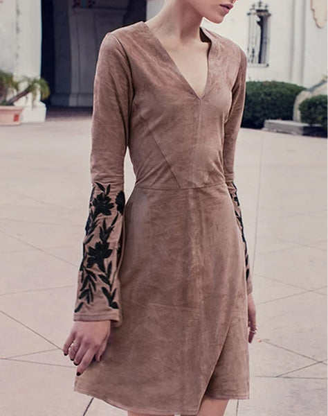 MARIANNE SUEDE DRESS