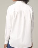 Marisa Lantern Sleeve Shirt in White