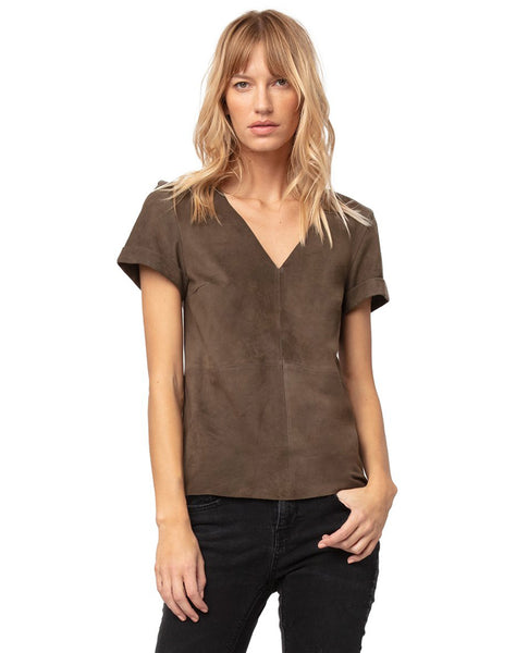 Martine Suede Tee