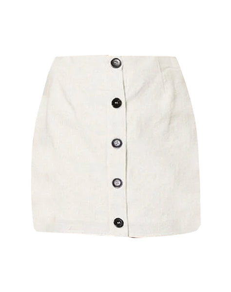 Martini Button Front Skirt