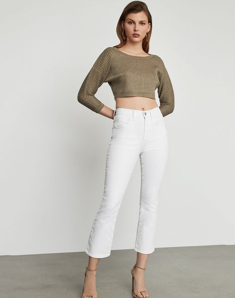 Metallic Knit Cropped Top