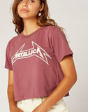 Metallica Young Metal Rebel Crop Tee