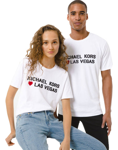 Mk Loves Las Vegas Cotton Jersey Unisex T-shirt