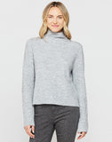 Montserrat Shaded Grey Mock Neck Sweater