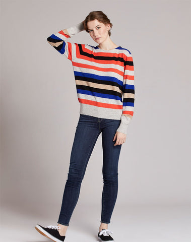 Multicolor Striped Pullover