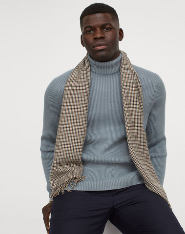 Muscle Fit Turtleneck Sweater
