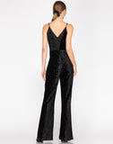 Naomi Knit Striped Velvet Jumpsuit