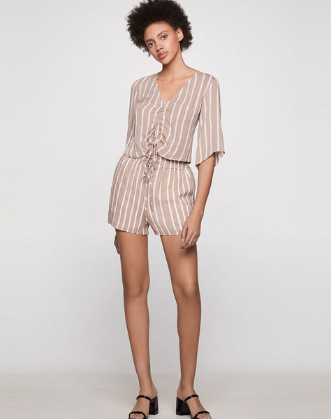 Nation Stripe Paperbag Waist Short