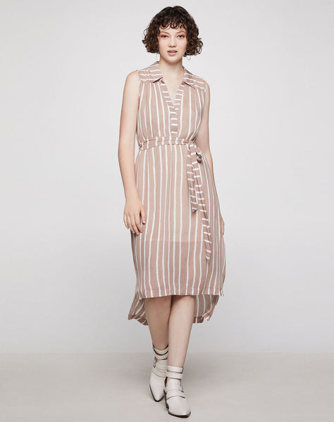 Nation Stripe Shirt Dress