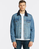 NAUTICA JEANS CO. SHERPA COLLAR DENIM JACKET