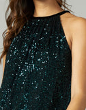 Nola Mini Sequins Halter Top