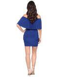 Off Shoulder Dress With Shirring - Ms1207