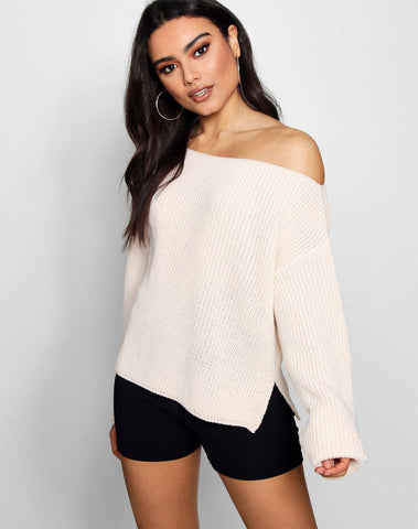 Off The Shoulder Slouchy Sweater