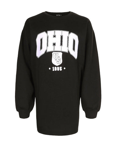 Ohio Slogan Sweat Dress