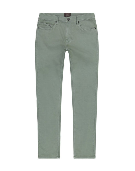 Olive Straight Fit Stretch Traveler Pant