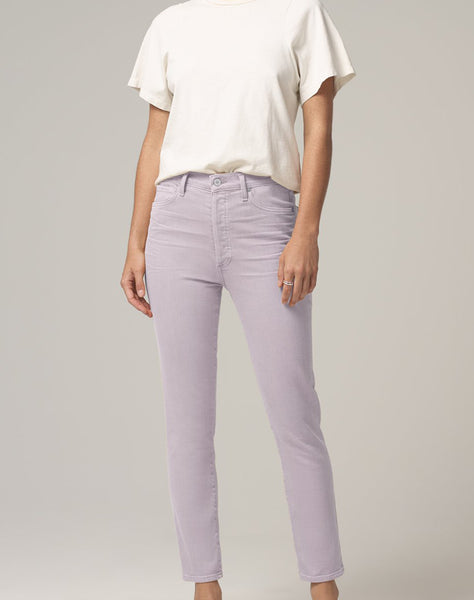 Olivia High Rise Slim Fit in French Lavender