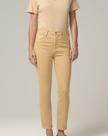 Olivia High Rise Slim Fit in Golden Rod