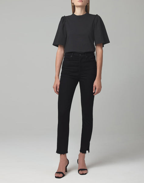 Olivia High Rise Slim Fit in Tomb