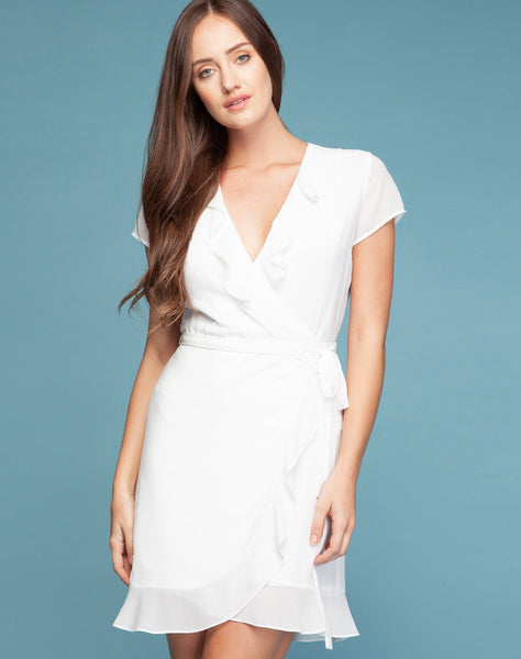 OLIVIA RUFFLE WRAP DRESS