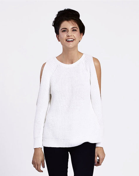 Open Back Ribbed Pullover