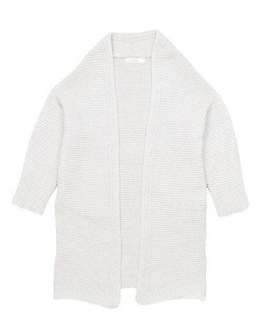 Open Front Ribbed Cardigan...
