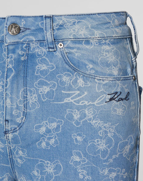 Orchid Print Girlfriend Jeans