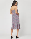 Orchid Slip Midi Dress