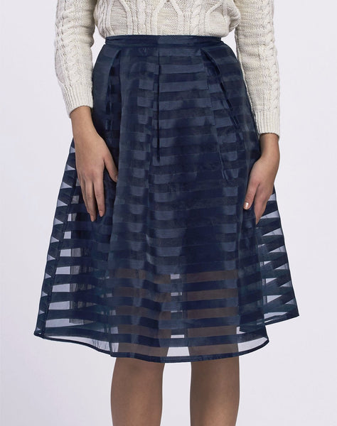 Organza Burnout Skirt...