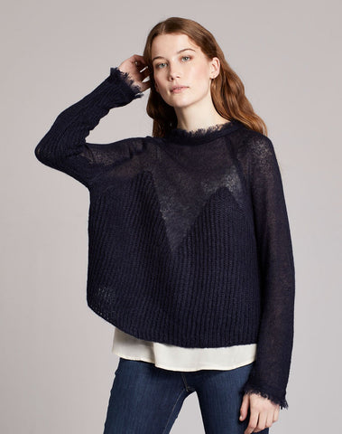 Oversized Fray Sweater