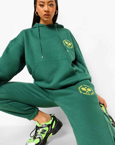 Oversized Tennis Embroidered Tracksuit