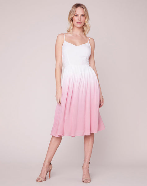 Pink Sunset Midi Dress