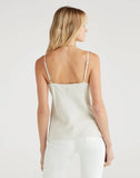 Pinstripe Cross Front Cami in Ivory and Black Stripe