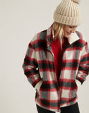 Plaid Wool Zip Jacket