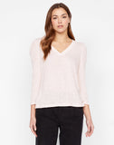 Pleated Sleeve Top Hanna  Morning Pink