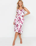 Plus Floral Ruffle Wrap Midi Dress