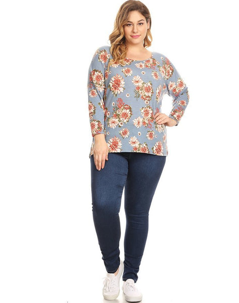 Plus Soft Knit Long Sleeve Top