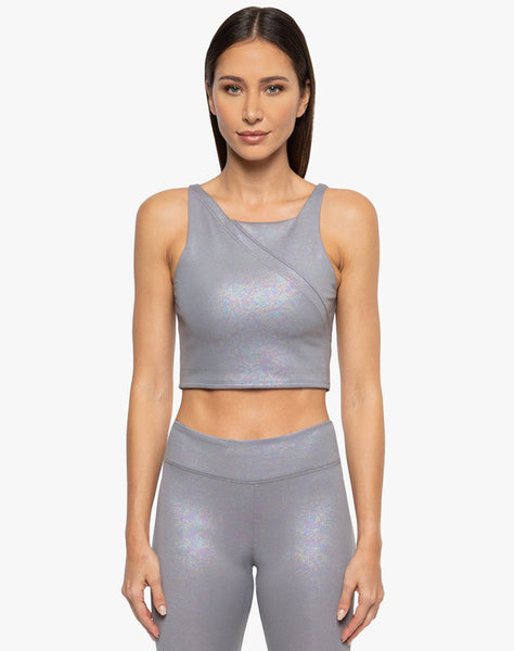 Point Scuba Crop Top - Opal