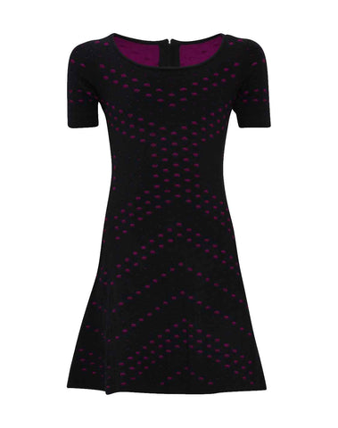 Pointelle Jacquard Flare Dress