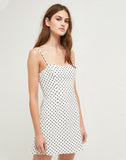 Polka Dot Whisper Strappy Dress